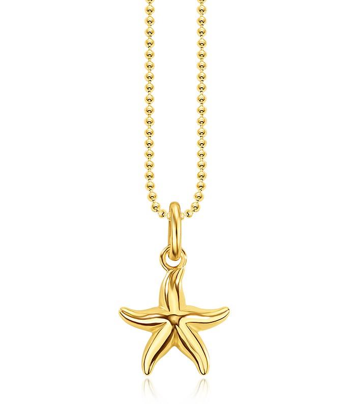 Thomas sabo gold plated sterling silver starfish pendant necklace w gold plated sterling silver starfish pendant necklace wwhite zirconia thomas sabo aloadofball Choice Image