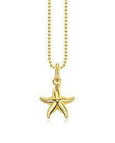 Gold Plated Sterling Silver Starfish Pendant Necklace w/White Zirconia - Thomas Sabo