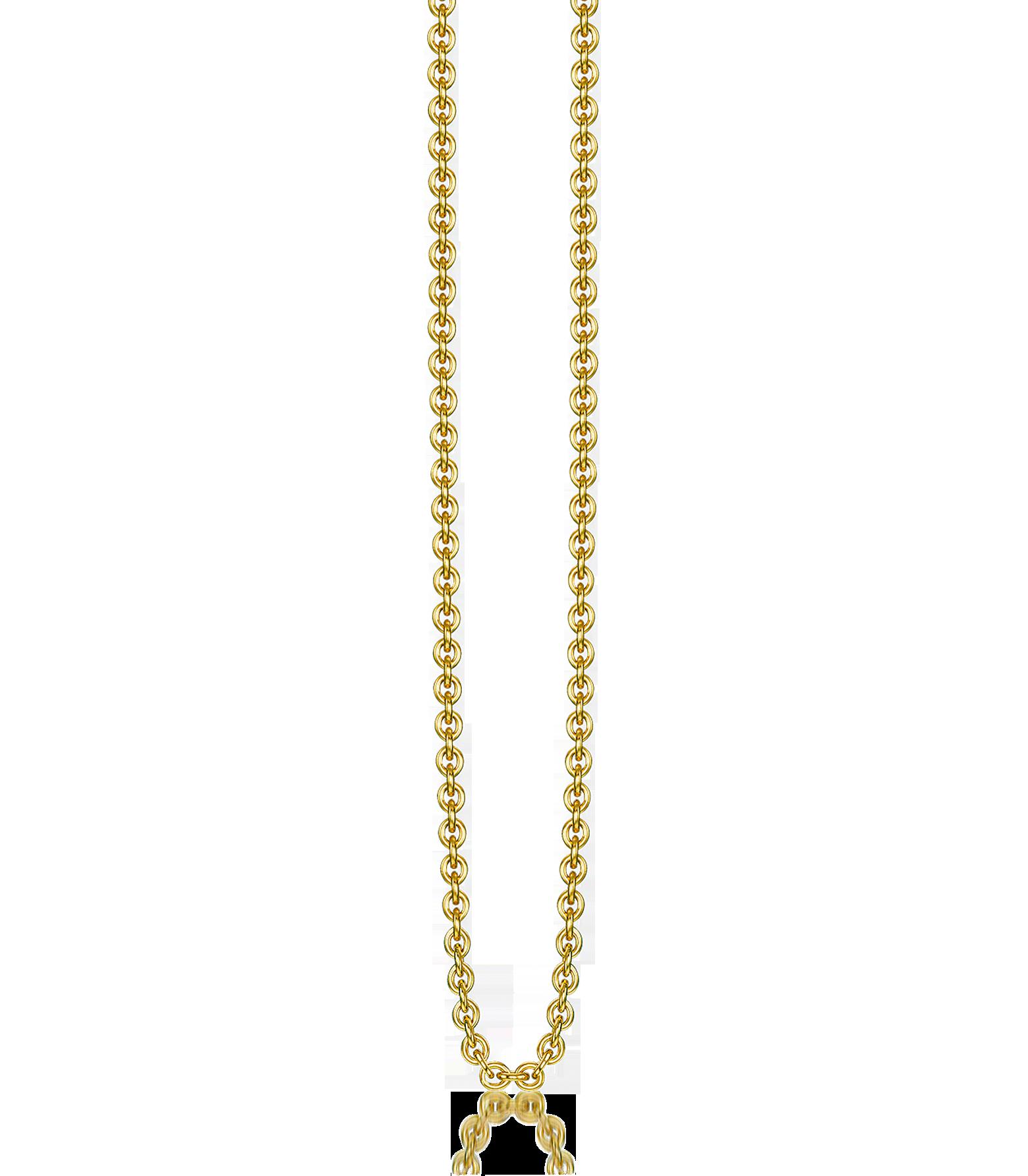 Joyas - Thomas Sabo Gold Plated Sterling Silver Anchor Chain Necklace De moda ts290018-062-00 JAQVWNX
