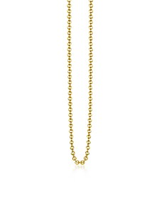 Gold Plated Sterling Silver Anchor Chain Necklace