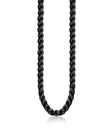 Black Nylon Ribbon Necklace
