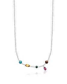Sterling Silver Riviera Colours Necklace w/Ceramic Stones - Thomas Sabo
