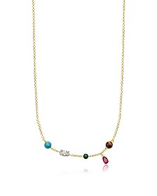 Gold Plated Sterling Silver Riviera Colours Necklace w/Ceramic Stones - Thomas Sabo