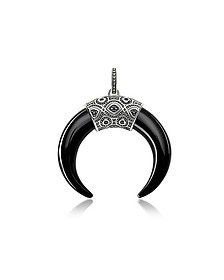 Rebel Icon Sterling Silver Pendant with Onyx - Thomas Sabo