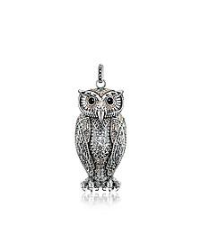 Rebel Icon Sterling Silver Owl Pendant w/Cubic Zirconia - Thomas Sabo