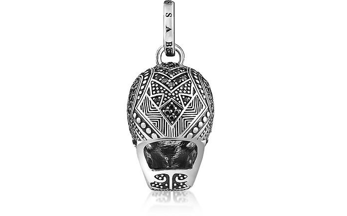 Thomas sabo blackened 925 sterling silver and zirconia maori skull skull pendant thomas sabo 23900 actual transaction amount mozeypictures Image collections