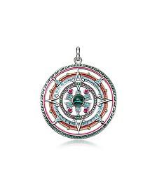 Sterling Silver, Enamel and Glass-ceramic Stones Amulet Pendant - Thomas Sabo
