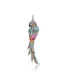 Gold Plated Sterling Silver, Enamel and Glass-ceramic Stones Parrot Pendant - Thomas Sabo