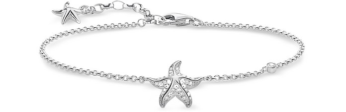 Sterling Silver Starfish Bracelet w/White Zirconia - Thomas Sabo