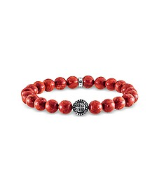 Ethnic Red Sterling Silver and Coral Beads Bracelet - Thomas Sabo