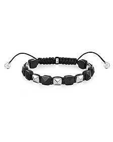 Blackened Sterling Silver Studded Bracelet - Thomas Sabo