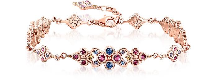 18k Rose Gold Plated Sterling Silver Royalty Colorful Stones Bracelet - Thomas Sabo