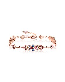 18k Rose Gold Plated Sterling Silver Royalty Colorful Stones Bracelet - Thomas Sabo