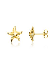 Gold Plated Sterling Silver Starfish Earrings w/White Zirconia - Thomas Sabo
