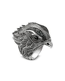 Blackened Sterling Silver Ring w/Black Cubic Zirconia - Thomas Sabo