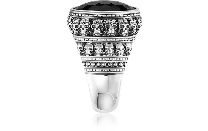 d920e38b4661 Rebel Skulls Sterling Silver Ring w Onyx - Thomas Sabo.  239.00 Actual  transaction amount