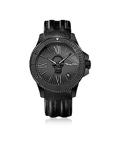 Rebel Icon Black Stainless Steel Men's Watch w/Leather Strap - Thomas Sabo