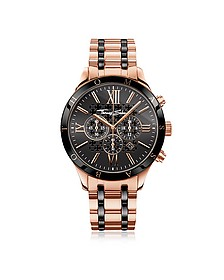 Rebel Urban Rose Gold Stainless Steel and Black Ceramic Men's Chronograph Watch - Thomas Sabo