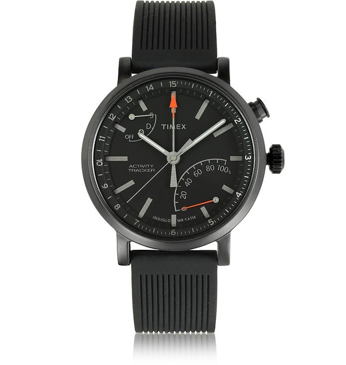 Metropolitan Black Brass Case Men's Watch w/Interchangeable Strap - Timex