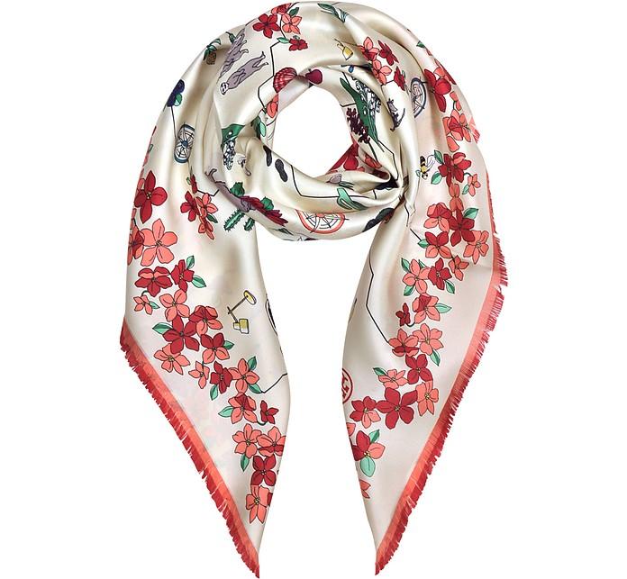 丝绸纪念品方巾 - Tory Burch