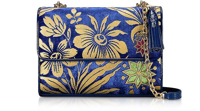 Cosmic Floral Velvet Fleming Medium Shoulder Bag - Tory Burch