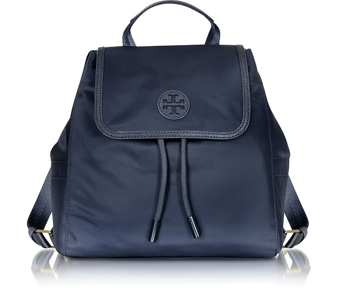 92a5bb01547 Tory Burch Scout Mini Tory Blue Nylon Backpack at FORZIERI Canada