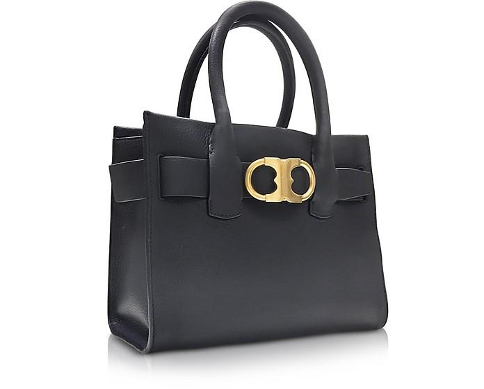 12db4017664 Gemini Link Black Leather Small Tote Bag - Tory Burch. AU 317.50 AU 635.00  Actual transaction amount