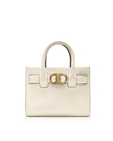 Gemini Link New Ivory Leather Small Tote Bag - Tory Burch