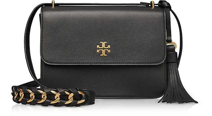 Brooke Black Leather Shoulder Bag - Tory Burch