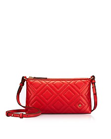 Fleming Exotic Red Quilted Leather Chain Crossbody Bag - Tory Burch