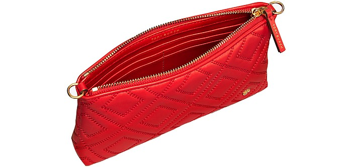Fleming Borsa con Tracolla in Pelle Exotic Red Tory Burch ptUzC