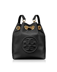 Key Item Black Leather Mini Backpack - Tory Burch