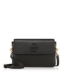 McGraw Black Pebbled Leather Crossbody Bag - Tory Burch