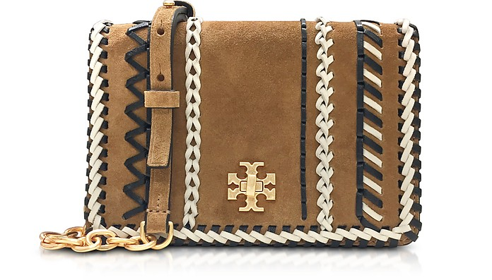 Kira Whipstitch Hazel Suede Mini Crossbody Bag - Tory Burch