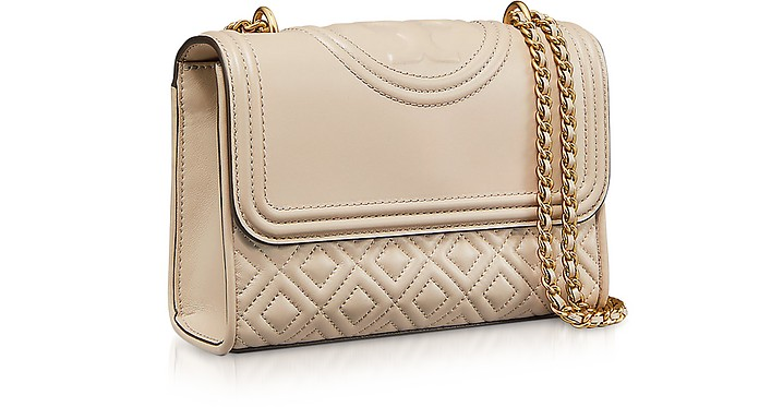 69ad8a299c18 Tory Burch Light Taupe Leather Fleming Small Convertible Shoulder ...