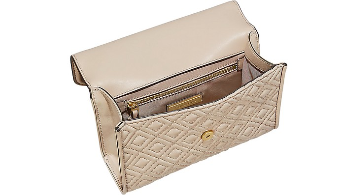 456fc6c3a7c5 Facebook · Twitter · Pinterest · Share on Tumblr. Light Taupe Leather  Fleming Small Convertible Shoulder Bag - Tory Burch