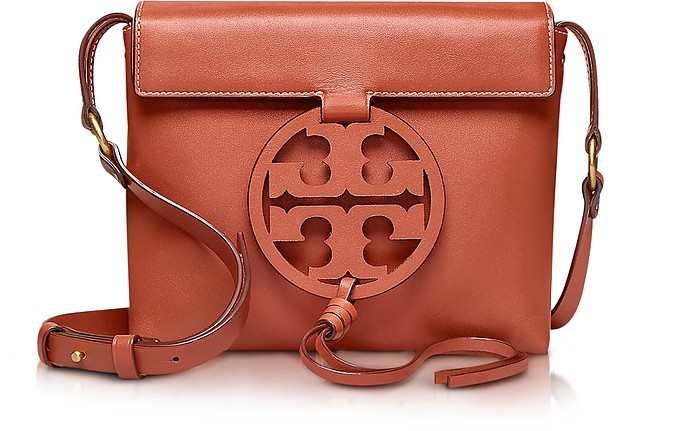 Genuine Leather Miller Cross-Body Bag - Tory Burch
