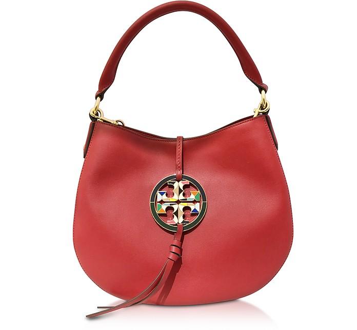 Apple Red Miller Mini Hobo Bag - Tory Burch