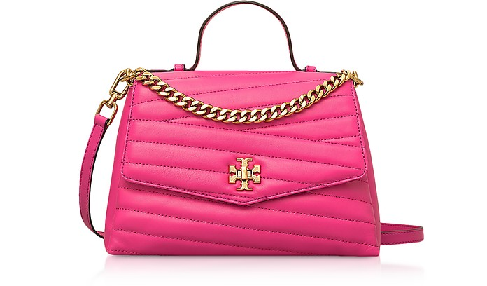 Kira Chevron Top-Handle Satchel Bag - Tory Burch