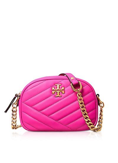 Crazy Pink Kira Chevron Small Camera Bag - Tory Burch