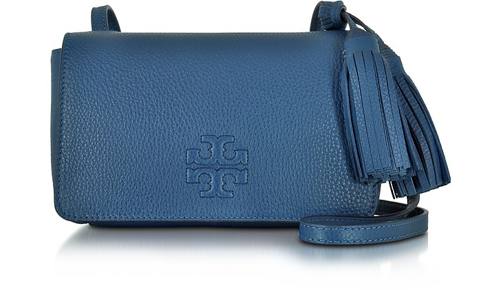 ebfc44ea892fb Tory Burch Thea Mini Tidal Wave Pebbled Leather Crossbody Bag at ...
