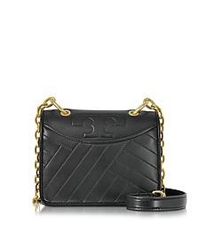 Alexa Black Leather Mini Shoulder Bag - Tory Burch