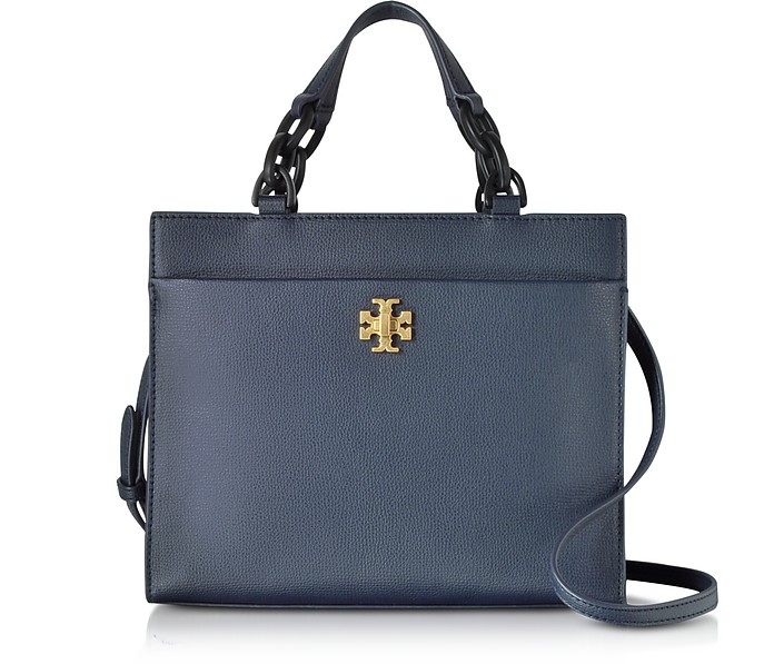 a162e3269085 Tory Burch Navy Kira Leather Small Tote Bag at FORZIERI UK
