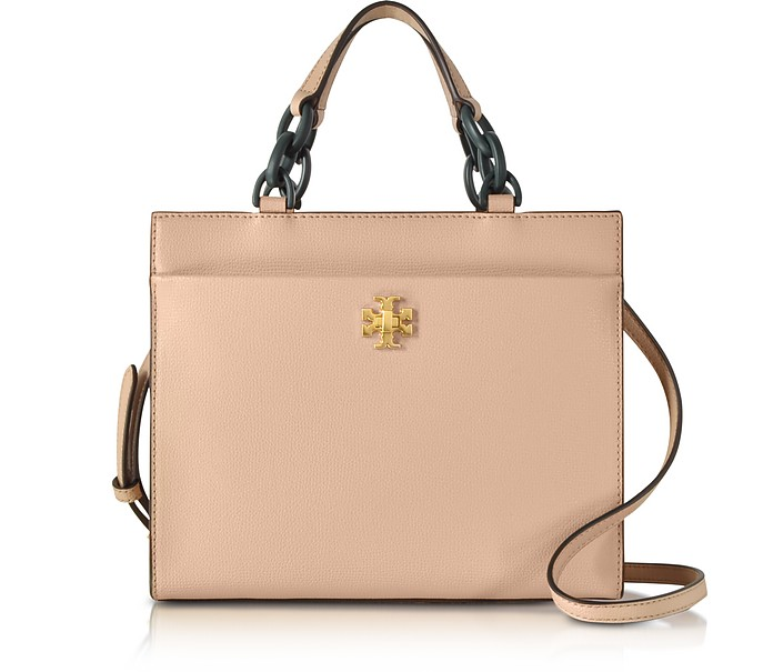 44a74f6bf93b Tory Burch Sand Kira Leather Small Tote Bag at FORZIERI UK