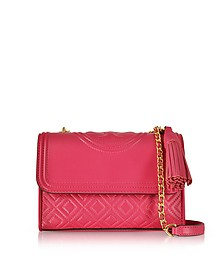Fleming Leather Small Convertible Shoulder Bag - Tory Burch