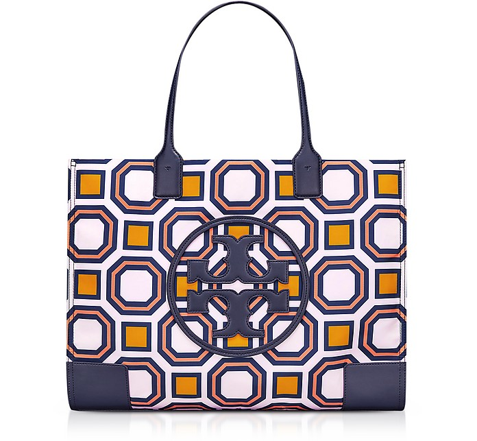 Ella Octagon Square Print Nylon Tote Bag - Tory Burch
