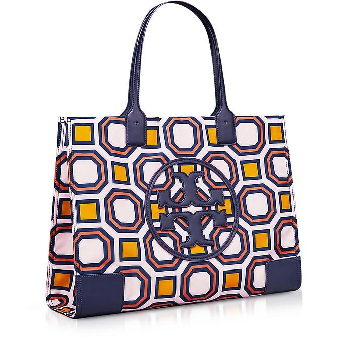 d5bea5f6f345 Tory Burch Vivid Orange Ella Octagon Square Print Nylon Tote Bag at ...