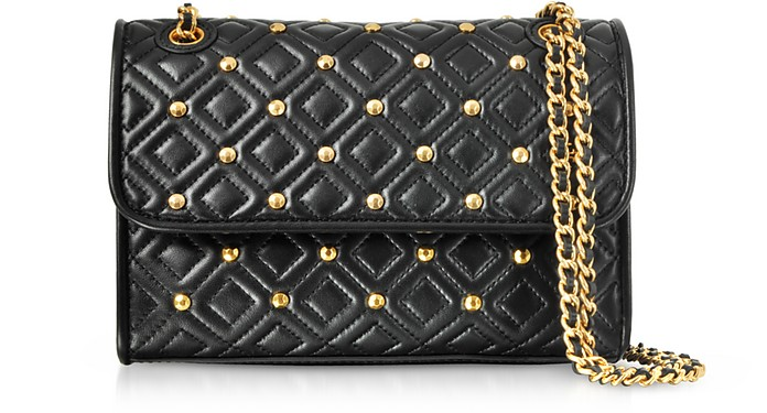 376214cdcbb0 Facebook · Twitter · Pinterest · Share on Tumblr. Fleming Stud Quilted  Leather Small Convertible Shoulder Bag - Tory Burch