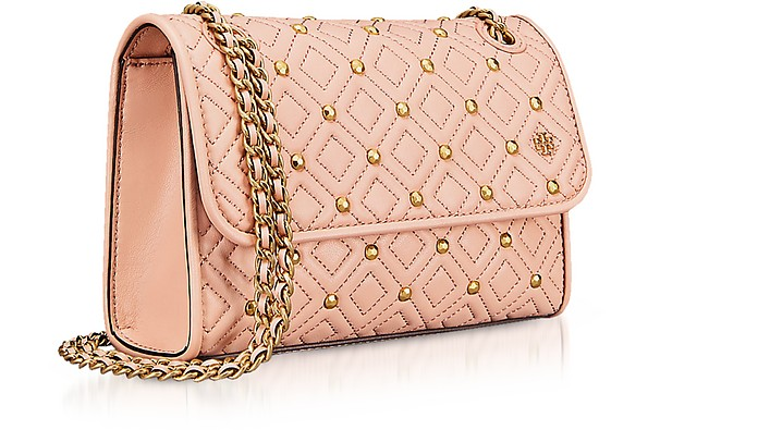 8360caee6ec9 Twitter · Pinterest · Share on Tumblr. Fleming Stud Quilted Leather Small  Convertible Shoulder Bag - Tory Burch