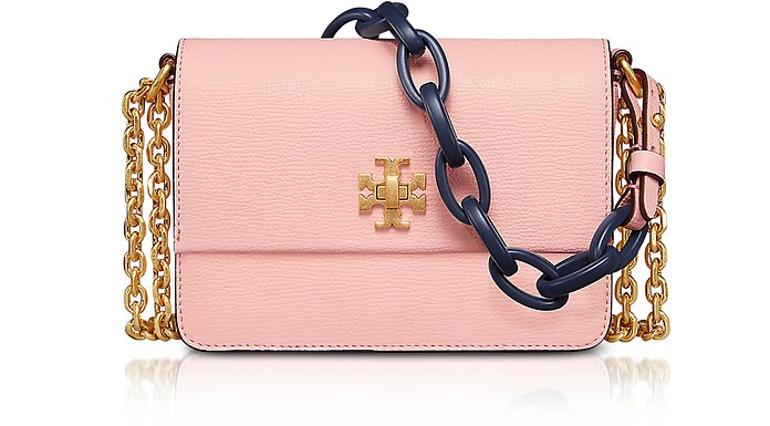 ef627bd7e20b3 Tory Burch Kira Opulent Pink Leather Mini Shoulder Bag at FORZIERI